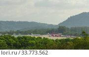Phuket international airport, timelapse. Редакционное видео, видеограф Игорь Жоров / Фотобанк Лори