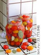 Купить «Cherry tomatoes canned.», фото № 33773846, снято 17 мая 2020 г. (c) Марина Володько / Фотобанк Лори