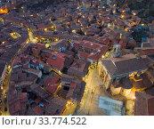 Купить «Evening aerial view of Daroca with Basilica», фото № 33774522, снято 9 марта 2019 г. (c) Яков Филимонов / Фотобанк Лори