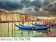 Gondolas in Venice. Стоковое фото, фотограф Sergey Borisov / Фотобанк Лори