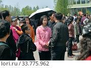 Купить «Pyongyang, North Korea. People», фото № 33775962, снято 1 мая 2019 г. (c) Знаменский Олег / Фотобанк Лори