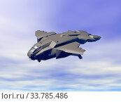 Купить «Futuristisches Transportflugzeug am Himmel», фото № 33785486, снято 28 мая 2020 г. (c) easy Fotostock / Фотобанк Лори