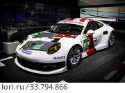Купить «Porsche 911 (991)», фото № 33794866, снято 15 сентября 2013 г. (c) Art Konovalov / Фотобанк Лори