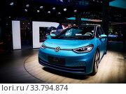 Купить «Volkswagen I.D.3», фото № 33794874, снято 18 сентября 2019 г. (c) Art Konovalov / Фотобанк Лори