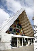 Купить «Cardboard Cathedral Christchurch New Zealand Earthquake Memorial», фото № 33795054, снято 1 июня 2020 г. (c) age Fotostock / Фотобанк Лори