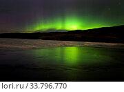 Купить «Aurora Borealis Northern Lights Saskatchewan Lake», фото № 33796770, снято 1 июня 2020 г. (c) age Fotostock / Фотобанк Лори