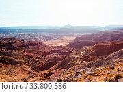 Купить «Road in the prairie country. Deserted natural travel background.», фото № 33800586, снято 1 июня 2020 г. (c) easy Fotostock / Фотобанк Лори