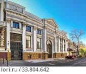 Купить «Old historic house in Odessa, Ukraine», фото № 33804642, снято 3 мая 2020 г. (c) Sergii Zarev / Фотобанк Лори