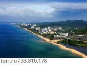 Купить «Aerial view of the resort coast of Vietnam, Phu Quoc», фото № 33810178, снято 10 июля 2020 г. (c) easy Fotostock / Фотобанк Лори