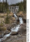 Купить «Tangle Waterfall Alberta Canada Jasper Highway cascade», фото № 33811094, снято 11 июля 2020 г. (c) age Fotostock / Фотобанк Лори