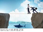 Купить «Concept of unethical business competition», фото № 33818214, снято 5 июля 2020 г. (c) Elnur / Фотобанк Лори
