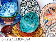Traditional handcrafted ceramic pottery in Morocco. Стоковое фото, фотограф Zoonar.com/Konstantin Kalishko / easy Fotostock / Фотобанк Лори