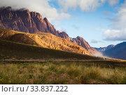 Views of landscape near RN 7, Patagonia, Argentina (2017 год). Стоковое фото, фотограф Яков Филимонов / Фотобанк Лори