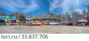Купить «Quarantined Luna Park in Odessa, Ukraine», фото № 33837706, снято 17 марта 2020 г. (c) Sergii Zarev / Фотобанк Лори