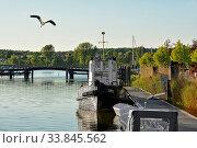 Der kleine Museumshafen von Wolgast, zwischen der Insel Usedom und dem Festland. Стоковое фото, фотограф Zoonar.com/JOACHIM G. PINKAWA / easy Fotostock / Фотобанк Лори