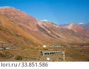 Купить «Road through mountain pass (Paso Los Libertadores)», фото № 33851586, снято 12 февраля 2017 г. (c) Яков Филимонов / Фотобанк Лори
