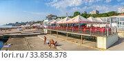 Купить «Langeron Beach in Odessa, Ukraine», фото № 33858378, снято 3 сентября 2019 г. (c) Sergii Zarev / Фотобанк Лори