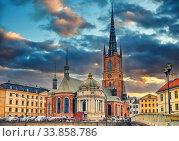 Купить «Riddarholm Church In Stockholm, Sweden», фото № 33858786, снято 4 июня 2020 г. (c) Sergey Borisov / Фотобанк Лори