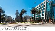 Plaza Independencia in Montevideo (2017 год). Стоковое фото, фотограф Яков Филимонов / Фотобанк Лори