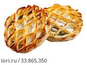 Купить «Image of fresh pastries from goat cheese and spinach», фото № 33865350, снято 6 июня 2020 г. (c) Яков Филимонов / Фотобанк Лори