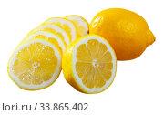 Lemon slices. Стоковое фото, фотограф Яков Филимонов / Фотобанк Лори