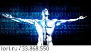 Купить «Digital Transformation with Man Technology Acceptance Concept», фото № 33868550, снято 6 июля 2020 г. (c) easy Fotostock / Фотобанк Лори