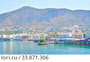 Купить «View of Limenas Hersonissou in Crete, Greece.», фото № 33871306, снято 30 мая 2020 г. (c) easy Fotostock / Фотобанк Лори