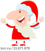 Cartoon Illustration of Happy Santa Claus Character on Christmas Holiday Time. Стоковое фото, фотограф Zoonar.com/Igor Zakowski / easy Fotostock / Фотобанк Лори