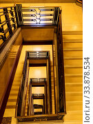 Купить «England, London, Knightsbridge, Harrods Department Store, Art Deco Staircase», фото № 33878534, снято 3 июня 2020 г. (c) age Fotostock / Фотобанк Лори