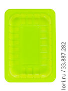 Купить «use plasticgreen trash from food packages on white background», фото № 33887282, снято 23 февраля 2020 г. (c) Константин Лабунский / Фотобанк Лори