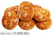 Sweet cookies with almond. Стоковое фото, фотограф Яков Филимонов / Фотобанк Лори