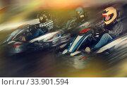 Купить «People driving go-kart cars», фото № 33901594, снято 18 марта 2019 г. (c) Яков Филимонов / Фотобанк Лори