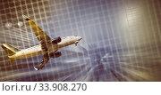 Купить «Airliner in motion in sky», фото № 33908270, снято 20 апреля 2017 г. (c) Яков Филимонов / Фотобанк Лори