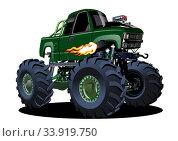Купить «Vector Cartoon Monster Truck», иллюстрация № 33919750 (c) Александр Володин / Фотобанк Лори