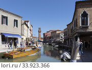 Typical canal scene, Murano, Province of Venice, Italy,. Стоковое фото, фотограф Ken Welsh / age Fotostock / Фотобанк Лори
