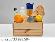 food in wooden box on table. Стоковое фото, фотограф Syda Productions / Фотобанк Лори