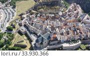 Aerial view on the city Briancon. France. Стоковое видео, видеограф Яков Филимонов / Фотобанк Лори