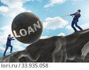 Купить «Business concept of debt and borrowing», фото № 33935058, снято 11 июля 2020 г. (c) Elnur / Фотобанк Лори