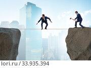 Купить «Concept of unethical business competition», фото № 33935394, снято 4 июля 2020 г. (c) Elnur / Фотобанк Лори