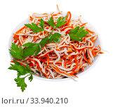 Rallado, popular Spanish appetizer made of surimi. Стоковое фото, фотограф Яков Филимонов / Фотобанк Лори
