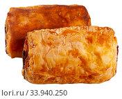 Купить «Napolitana with meat and cheese filling», фото № 33940250, снято 12 июля 2020 г. (c) Яков Филимонов / Фотобанк Лори