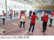 Купить «King Felipe VI of Spain, Queen Letizia of Spain visit High Performance Center (CAR) at Consejo Superior de Deportes Facilities on June 8, 2020 in Madrid, Spain», фото № 33949578, снято 8 июня 2020 г. (c) age Fotostock / Фотобанк Лори