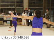 Купить «King Felipe VI of Spain, Queen Letizia of Spain visit High Performance Center (CAR) at Consejo Superior de Deportes Facilities on June 8, 2020 in Madrid, Spain», фото № 33949586, снято 8 июня 2020 г. (c) age Fotostock / Фотобанк Лори