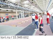 Купить «King Felipe VI of Spain, Queen Letizia of Spain visit High Performance Center (CAR) at Consejo Superior de Deportes Facilities on June 8, 2020 in Madrid, Spain», фото № 33949602, снято 8 июня 2020 г. (c) age Fotostock / Фотобанк Лори