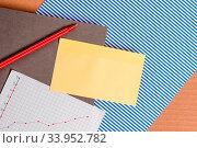 Купить «Striped paperboard notebook cardboard office study supplies chart paper», фото № 33952782, снято 4 августа 2020 г. (c) easy Fotostock / Фотобанк Лори
