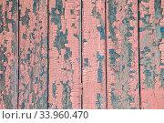 Купить «Vintage wood background with peeling paint», фото № 33960470, снято 8 мая 2017 г. (c) Nataliia Zhekova / Фотобанк Лори
