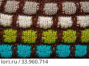 Colorful thread knitting wool texture background. Стоковое фото, фотограф Nataliia Zhekova / Фотобанк Лори