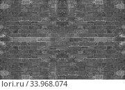 Купить «grey grunge brick wall background», фото № 33968074, снято 11 июля 2020 г. (c) Nataliia Zhekova / Фотобанк Лори