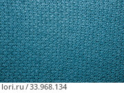 Seed stitch in blue yarn as an abstract background texture. Стоковое фото, фотограф Nataliia Zhekova / Фотобанк Лори