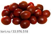 Купить «Pile of mini tomatoes Kumato», фото № 33976518, снято 5 июля 2020 г. (c) Яков Филимонов / Фотобанк Лори